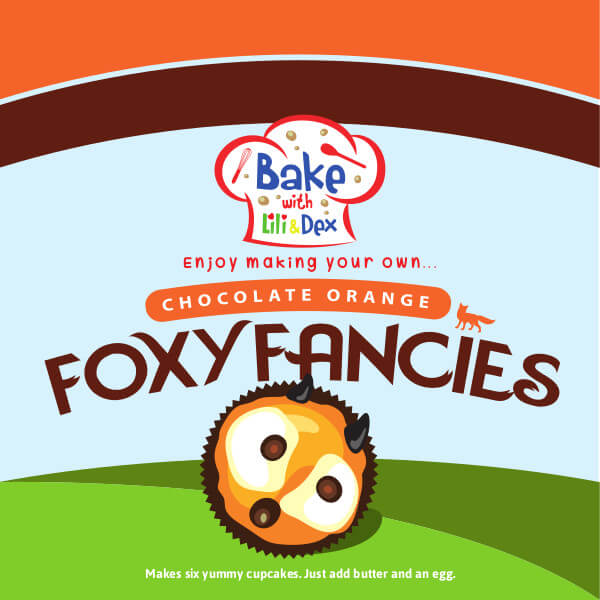 Chocolate Orange Foxy Fancies