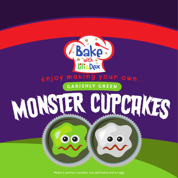 Garishly Green Monster Cupcakes