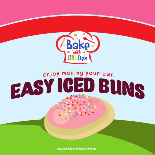Easy Iced Buns