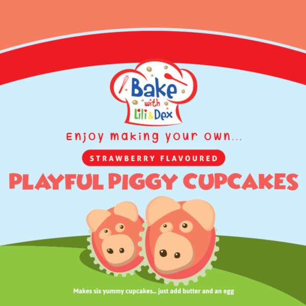 Strawberry Playful Piggy Cupcakes